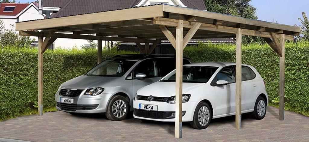 Doppelcarport aus Holz